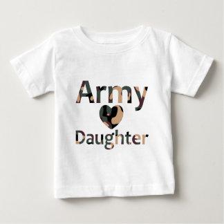 Army Daughter Camo Heart Tshirt