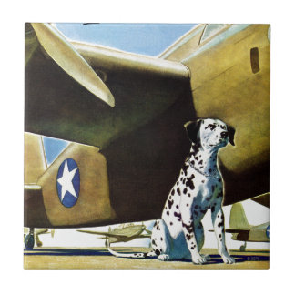 Army Dog Small Square Tile