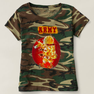 army eagle soldier cartoon style tee shirts