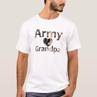 Army Grandpa Heart Camo T-Shirt