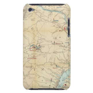 Army Map of The Seat of War In Virginia Barely There iPod Cases