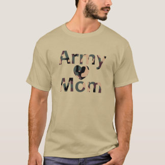Army Mom Camo Heart T-Shirt