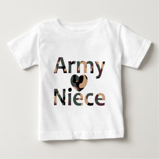 Army Niece Heart Camo Baby T-Shirt
