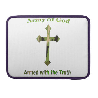 Army of God Christian products Sleeve For MacBook Pro