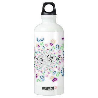 Army of love water bottle