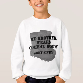 Army Sister Brother Combat Boots Sweatshirt