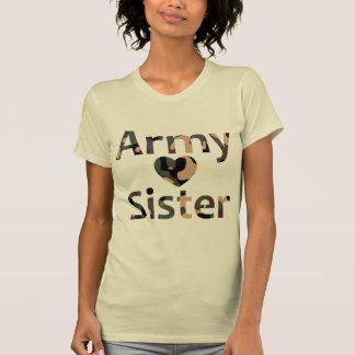 Army Sister Heart Camo Tshirt