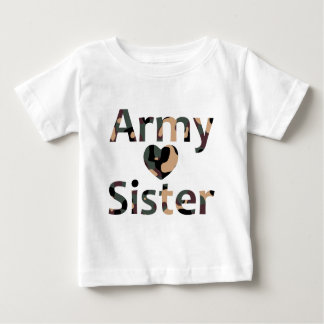 Army Sister Heart Camo Shirts