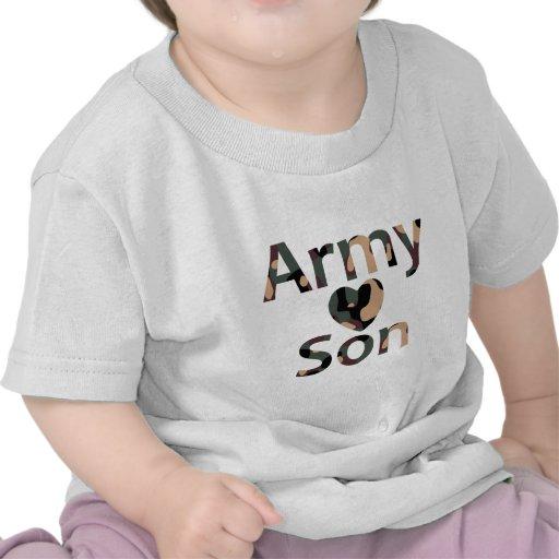 Army Son Heart Camo Tees