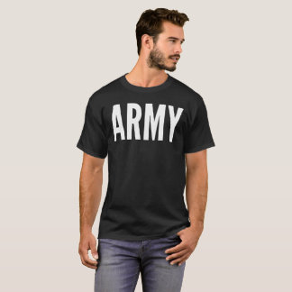 Army Text Typography T-Shirt