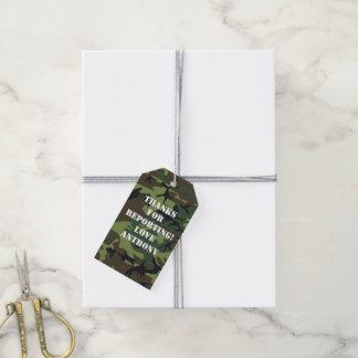 Army themed Birthday Party Gift Tags