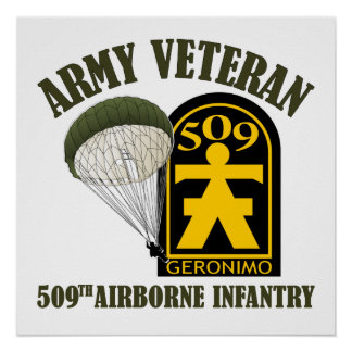 Army Veteran - 509th PIR Poster