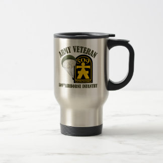 Army Veteran - 509th PIR Stainless Steel Travel Mug