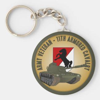 Army Veteran - M-48 Basic Round Button Key Ring