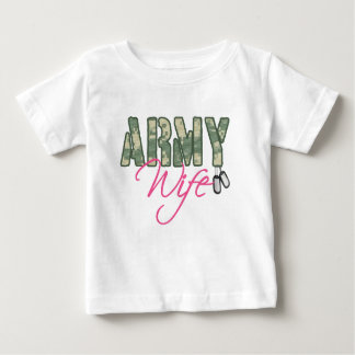 Army wife camo and pink with dog tags t-shirts