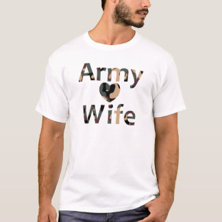 Army Wife Camo Heart T-Shirt