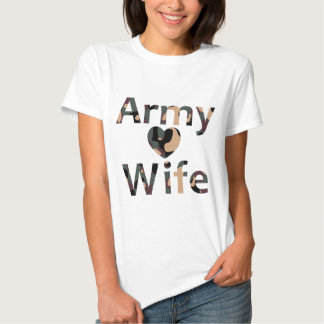 Army Wife Camo Heart T-shirts