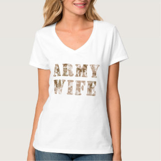 Army Wife Desert Camo Pattern T Shirts