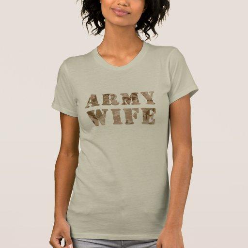 Army Wife Desert Camouflage Tee Shirt