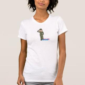 Army Woodland Camo Light Blonde T Shirt