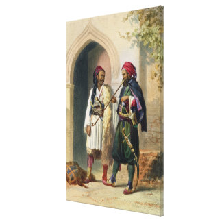 Arnaout and Osmanli Soldiers in Alexandria, illust Canvas Print