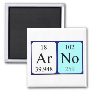 Arno periodic table name magnet