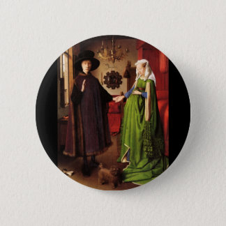 Arnolfini Portrait 6 Cm Round Badge