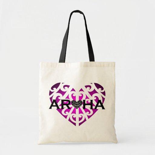 """""""Aroha"""" Print Tote Bag"""