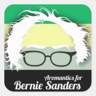 Aromantic pride for Bernie Sanders Square Sticker
