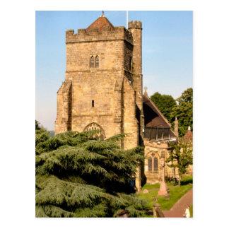 Around Britain,   Country Parish Church Postcard