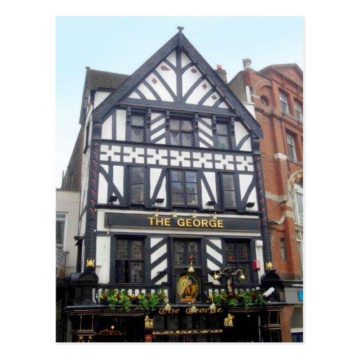 Around Britain,    The George, London Pub Post Cards