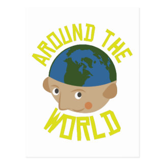 Around the World Postcard