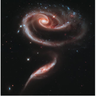 Arp 273 Galaxy Pair (Hubble Telescope) Standing Photo Sculpture