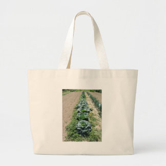 Arrays of cabbages and onions large tote bag