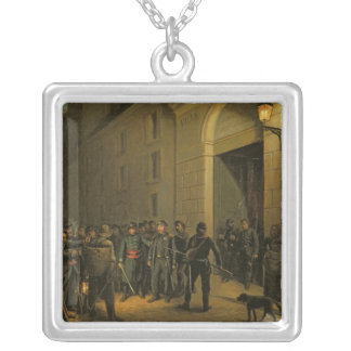 Arrest of the Generals Silver Plated Necklace