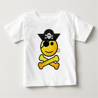 ARRGH! Smiley - Smiling   Emoticon Pirate Baby T-Shirt