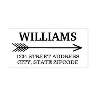 Arrow Design   Return Address Self-inking Stamp