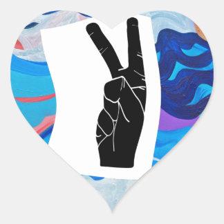 Arrow Peace Heart Sticker
