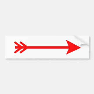Arrow Red Straight The MUSEUM Zazzle Gifts Car Bumper Sticker