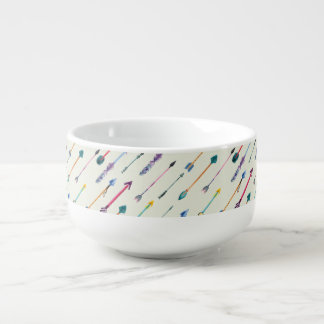Arrows Attack Soup Bowl With Handle