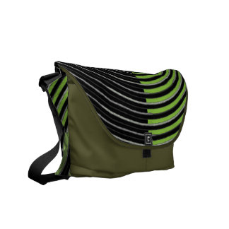 Art101 BOLLYWOOD Diva - Silver Green Streaks Courier Bags