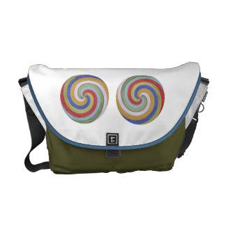 Art101 Cute Simple Design Color Pallet Messenger Bags