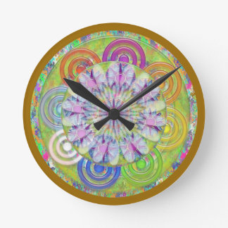 Art101 Kids Playground - Sunflower Center Round Clock