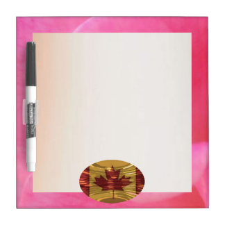 Art101 Pink Rose Petal Border n Silver Screen Dry-Erase Boards