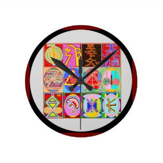 Art101 Reiki n Karuna Healing Symbol Collection Round Clock