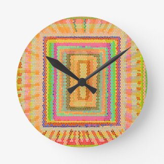 Art101 Window of Opportunity - Stained Glass Patte Wall Clocks