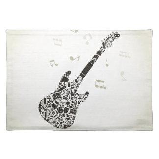 Art a guitar placemat