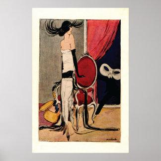 Art Deco 1920s Flapper Girl Poster