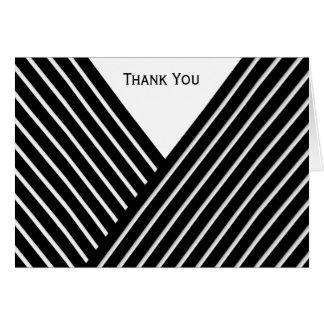 Art Deco Black and White Stripe Card
