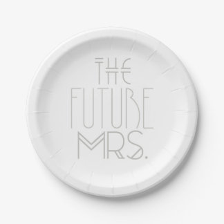 Art Deco Bohemian Bride | The Future Mrs. | Plates 7 Inch Paper Plate